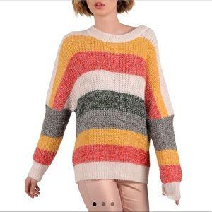 Molly Bracken Multi-stripe Sweater